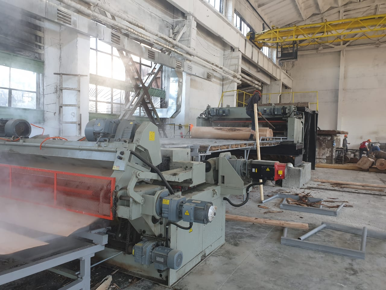 new veneer production line