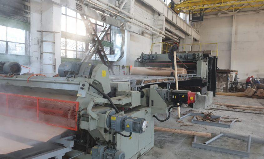 new veneer production line